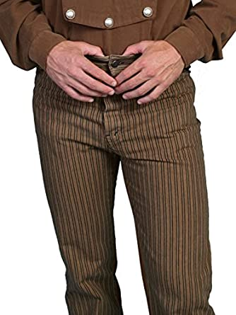 Men's Steampunk Clothing, Costumes, Fashion Railhead Stripe Pants $84.00 AT vintagedancer.com