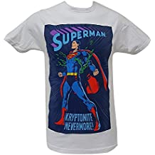 DC Comics Superman Kryptonite Nevermore Men's White Top T Shirt Short Sleeve Tee