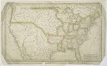 Amazoncom Historic 1824 Map United States United States