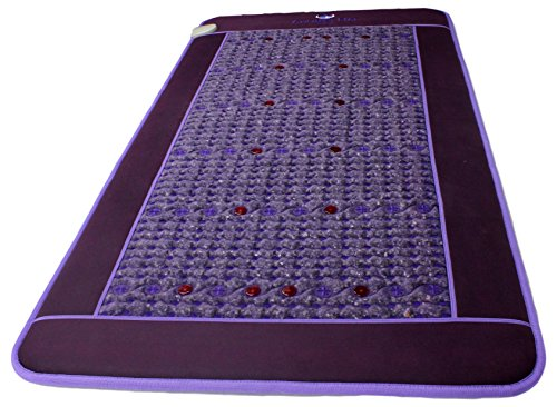 Far Infrared Amethyst Mat - FIR Heat - Bio Magnetic Field - PEMF - Negative Ions - Red Light Photon Therapy - Natural Amethyst - FDA Registered Korean Manufacturer - Purple (Single (XL) 75''L x 39''W) by Bio Amethyst (Image #5)