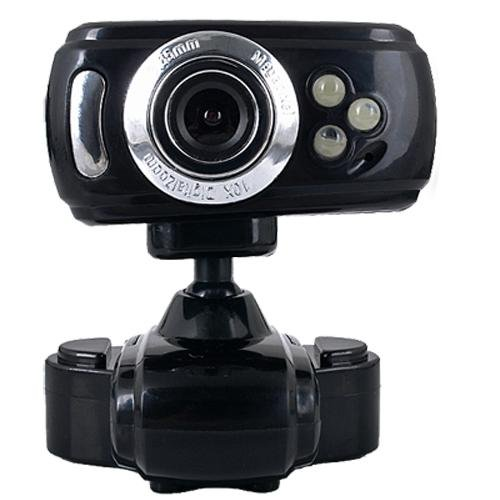 USB Interpolation 16.0M 3 LED Webcam Web Cam Camera Mic for PC Laptop compreshow