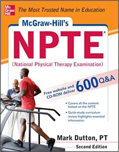 McGraw-Hill\'s NPTE (National Physical Therapy Examination) [Repost]. your visit Home Inicio CENTROS autoria work entre