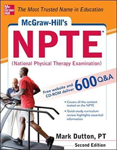 mcgraw hills npte national physical therapy exam second edition rh amazon com NPTE Review NPTE Study Guide 2018