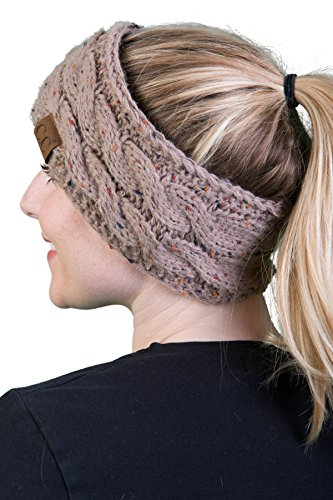 HW-6033-45 Funky Junque Head Wrap - Taupe (Confetti)