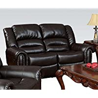 ACME 50286 Ralph Motion Loveseat with 2 Recliners, Brown Bonded Leather