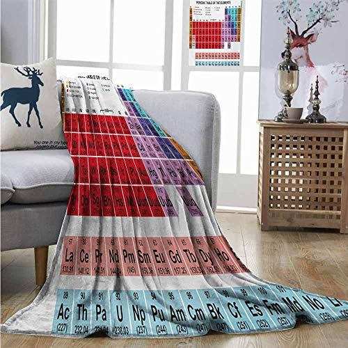 - Degrees of Comfort Weighted Blanket Periodic Table Kids Children Educational Science Chemistry for School Students Teachers Art Full Blanket W60 xL80 Multicolor