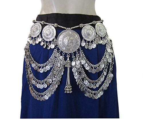 Tribal Belt Oxidized Vintage Festival Bohemian Womens Fashion Belly (Coin Tribal Belly Dance)