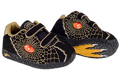 DinosolesX10 - Zapatillas Niños, negro, UK 2 / EU 34.5 negro