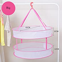 SweetyLady Hanging Mesh Drying Net Basket Outdoor Kitchen Dish Food Hanging Drying Storage Foldable Drying Rack for Bra, Lingerie, Socks, Tights, Stockings, Underwear