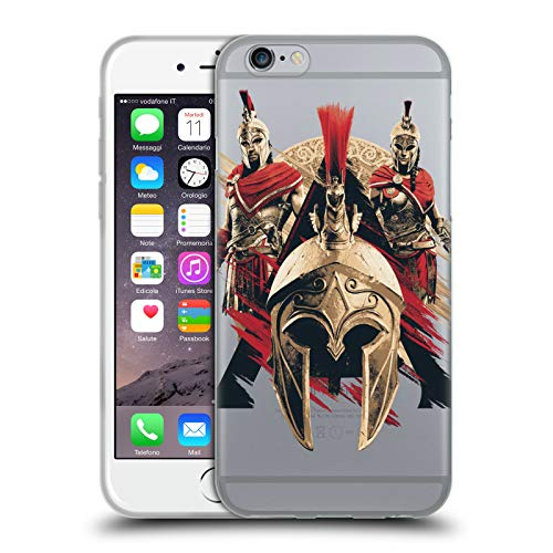Official Assassin's Creed Helmet Odyssey Artwork Soft Gel Case for iPhone 6 / iPhone ()