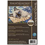 Wilton Dimensions Gold Collection - Kit de Punto de Cruz, diseño de Gato Encantador, 18 Unidades, Color Marfil Aida, 17,8 x 12,7 cm