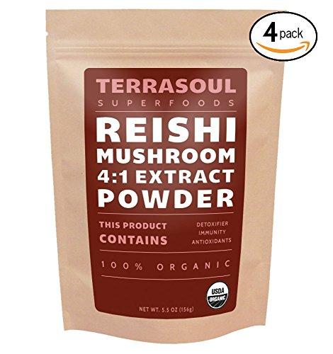 Red Reishi Mushroom Powder 4:1 Extract (Organic), 22 Ounces