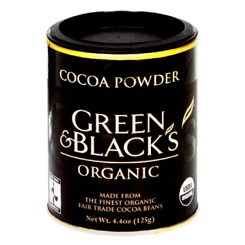 Green and Black Powder, Cocoa, Organic, 4.4-Ounce (Pack of 4)