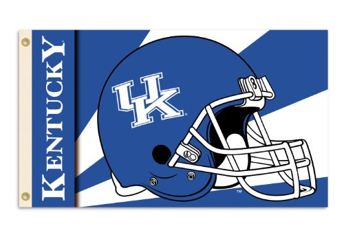NCAA Kentucky Wildcats 3-by-5 Foot Flag with Grommets - Helmet Design