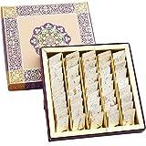 Ghasitaram's (Mumbai) Pure Fresh Kaju Katli in a Gift Box, Authentic Indian Food and Sweets Mithai - 400 grams (14 oz)