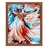 Sttech1 DIY 5D Diamond Painting by Number Kits, Classic Tango Dance Diamond Embroidery Paintings Pictures Arts Craft for Wall Stiker Home Decor (Dance)