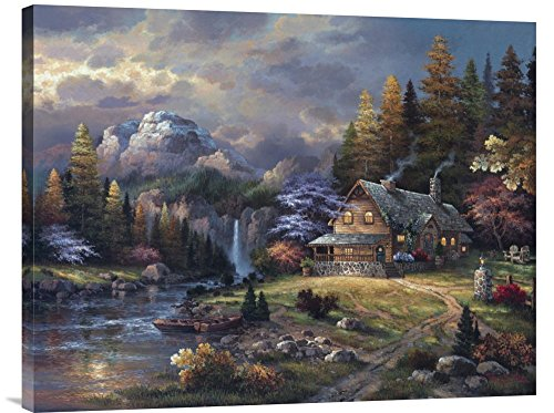 Global Gallery Budget GCS-127034-2432-142 James Lee Mountain Hideaway Gallery Wrap Giclee on Canvas Print Wall Art - James Lee Mountain Hideaway