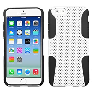 MegaTronic Astronoot Phone Protector Case Cover for Apple iPhone 6 - Retail Packaging - White/Black W/ Free Stylus