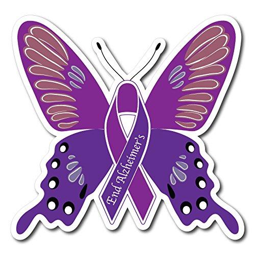 - Alzheimer Awareness Butterfly Magnet - Set of 2 -