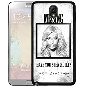 Funny Have You Seen Molly Quote Black And White Background Hard Snap On Case Cover Samsung Galaxy Note III 3 N9000