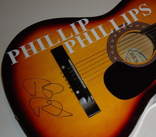 PHILLIP PHILLIPS signed *ACOUSTIC GUITAR* American Idol GONE - HOME W/COA by Crescent