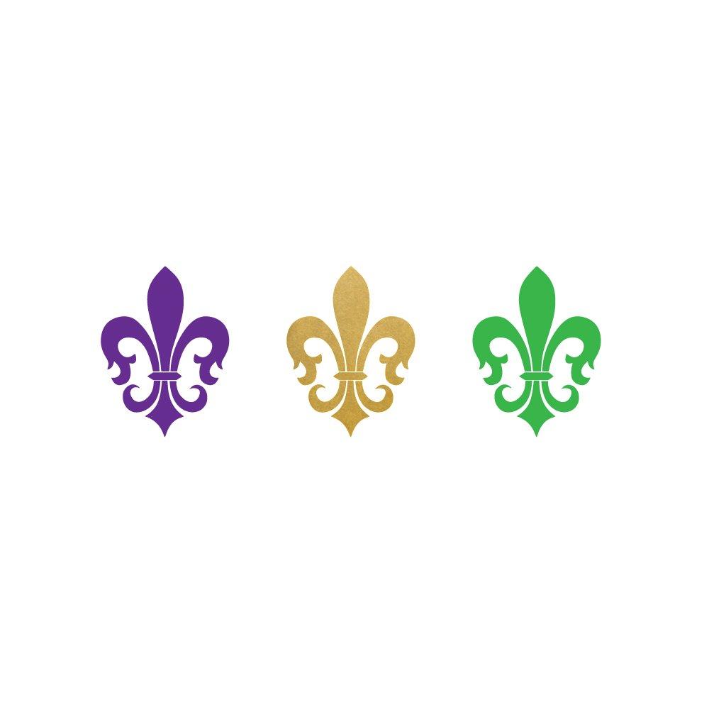 FLEUR DE LIS FAVORS set of 25 premium waterproof temporary metallic gold jewelry foil Flash Tattoos – party favors