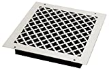 SteelCrest BTU12X12SWHH Bronze Series Designer Wall/Ceiling Vent Cover, with Air-Volume Damper, and Mounting Screws, White