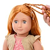 """Our Generation 18"""" Hair Grow Patience, Red Head Styling Doll w/Book and Accesories"""