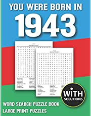 You Were Born In 1943: Word Search Puzzle Book: 1500+ Words Find Game For Adults Seniors And Puzzle Fans with Solutions
