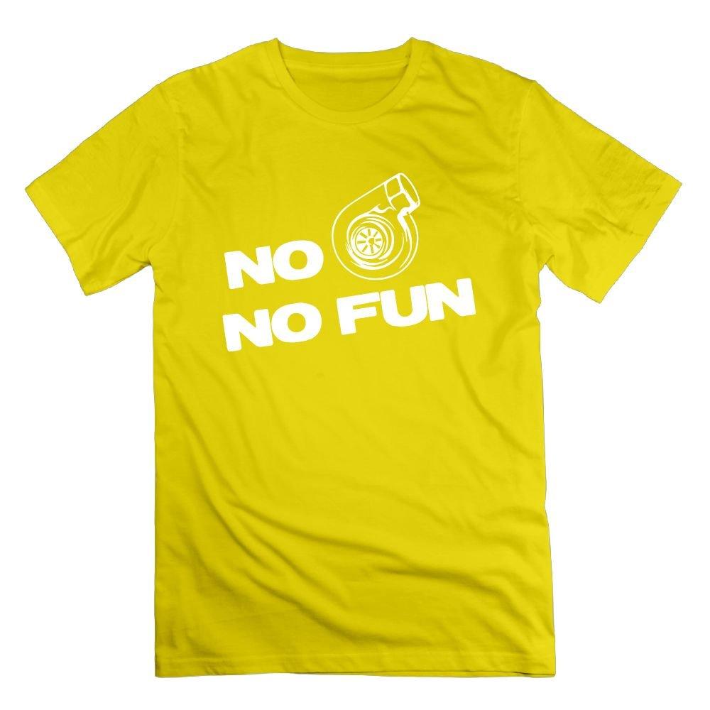 Amazon.com: Richard Lyons Mens No Turbo No Fun Vintage Tee Natural: Clothing