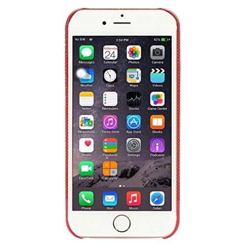 Phone Taschen & Schalen Für iPhone 6 Plus & 6s Plus Kreuz Texture Schutzmaßnahmen zurück Fall ( Color : Red )