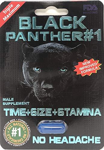 Black Panther #1 Men's Enhancement Pill (6) (Panther Pill)