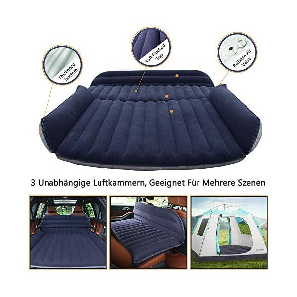 51HUCVWBNBL QDH SUV Auto Luftmatratzen-Camping Aufblasbare Matratze-Aufblasbares Bett für den Auto-Rücksitz-Dickere Luftbett Auto…