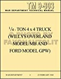 1941-1945 Military Jeep MB/GPW Operating Instructions/Maintenance Manual Reprint TM 9-803 8.5x11