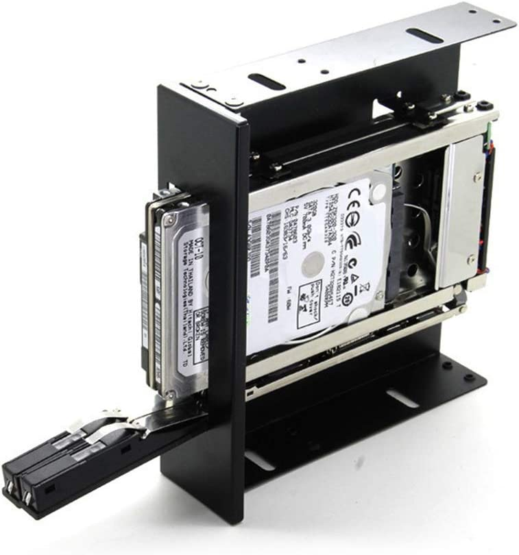 Heaven2017 2.5 inch Internal Hard Drive Hot Swap Dual Bay SATA SSD HDD Hard Drive Enclosure Tray Mobile Rack