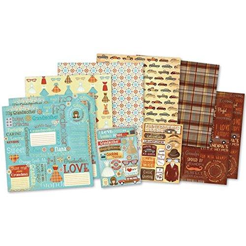 Karen Foster Design Themed Paper and Stickers Scrapbook Kit, Classic Grandparents