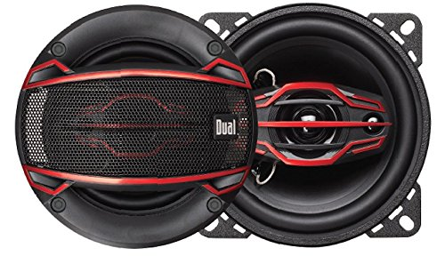 Dual Electronics DLS404 4-Way 4 inch Car Speakers with 80 Wa