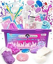 Original Stationery Unicorn Slime Kit Supplies Stuff for Girls Making Slime [Everything in One Box] Kids Can Make Unicorn, G