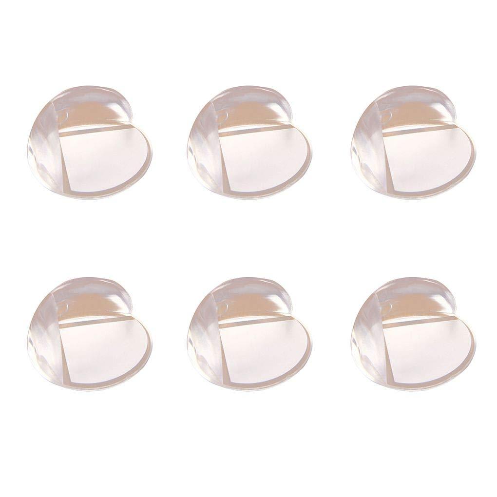 Morza 6pcs PVC Coin B/éb/é Protecteur Proofing amortissante Transparent Accueil Jardin denfants Garde dangle