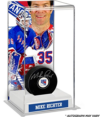 - Mike Richter New York Rangers Autographed Puck with Deluxe Tall Hockey Puck Case - Fanatics Authentic Certified
