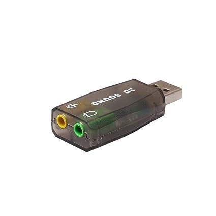Tarjeta de sonido externa 3D USB con adaptador de audio 3D ...