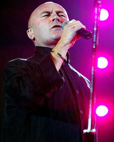 Phil Collins Icon in Concert in Black Shirt 11x14 HD Aluminum Wall Art ()