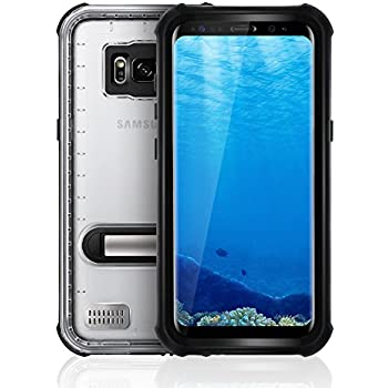 Samsung Galaxy S8 Waterproof Case, SHARKCASE IP68 Certified Full-body Underwater Protective Case with Built-in Screen Protector for Samsung Galaxy S8 5.8'' [Black]