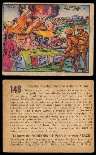 1938 Gum Inc Horrors of War (Non-Sports) Card# 148 Clearing Battlefield VG Condition ()