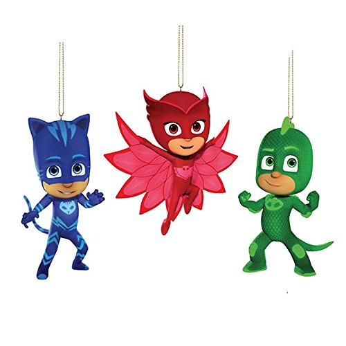 Kurt Adler 3.5-Inch PJ Masks Christmas Ornament Set of 3 by Kurt Adler