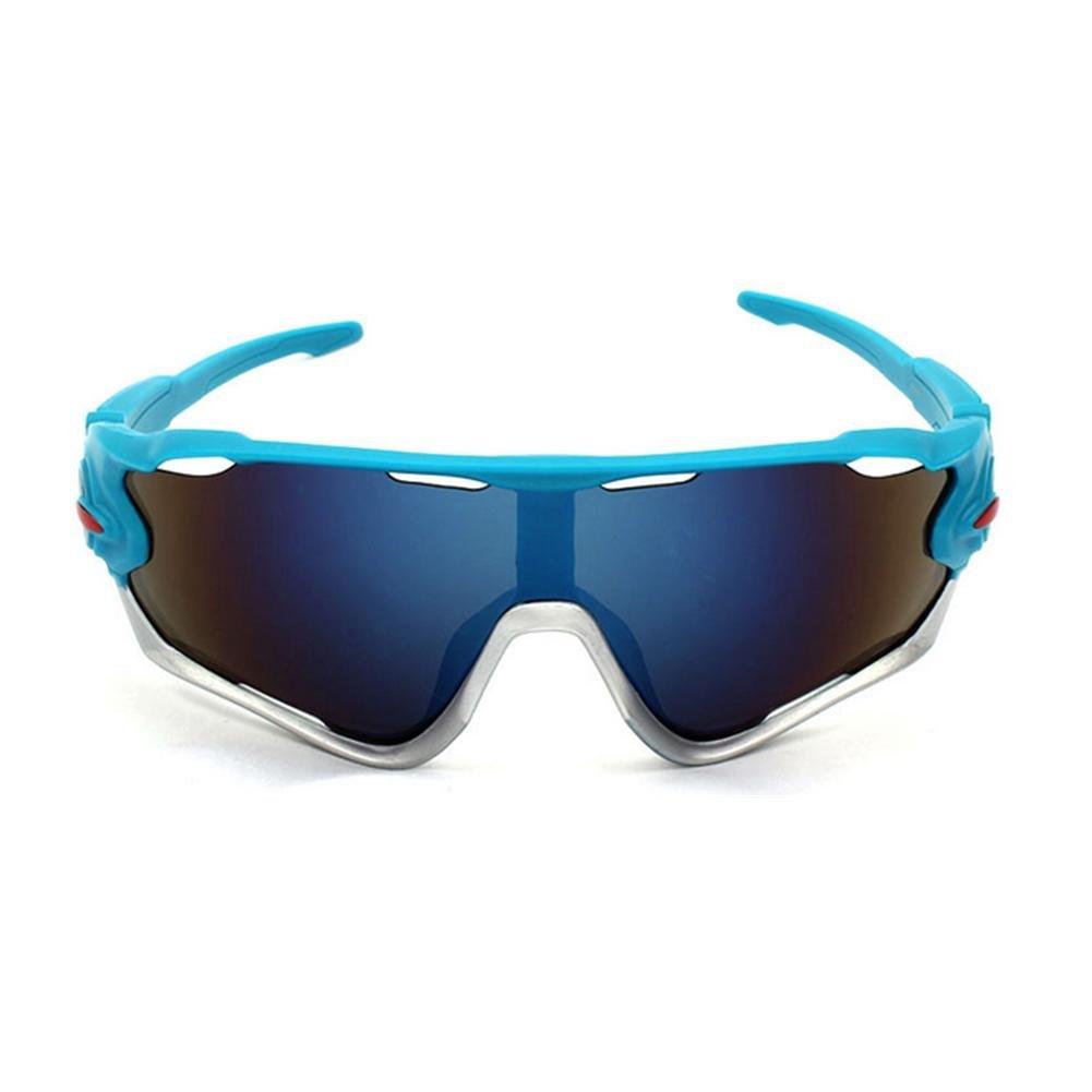 DZW Outdoor Reiten Brille Fahrrad Sonnenbrille 3 Sätze Motion 9270 von polarisierten Sonnenbrillen , black blue suit