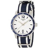 Tissot Quickster Silver Dial Unisex Watch (White & Blue)