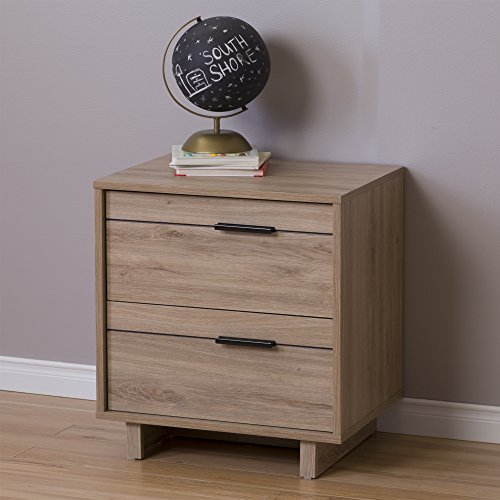 fynn collection nightstand rustic oak by south shore - Modern Nightstands