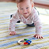 HABA Kringelring Wooden Baby Rattle Clutching Toy & Teether