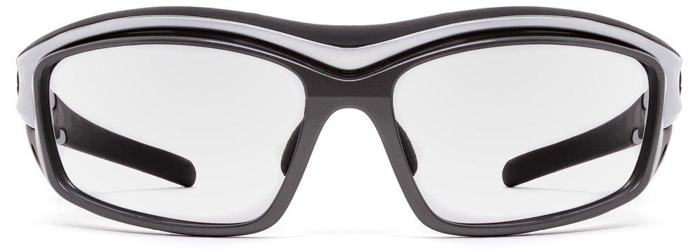 Wind Blocking Sunglasses Rocker Sports Cycling Eyewear Interchangeable Gray /& Clear Lenses 7eye by Panoptx